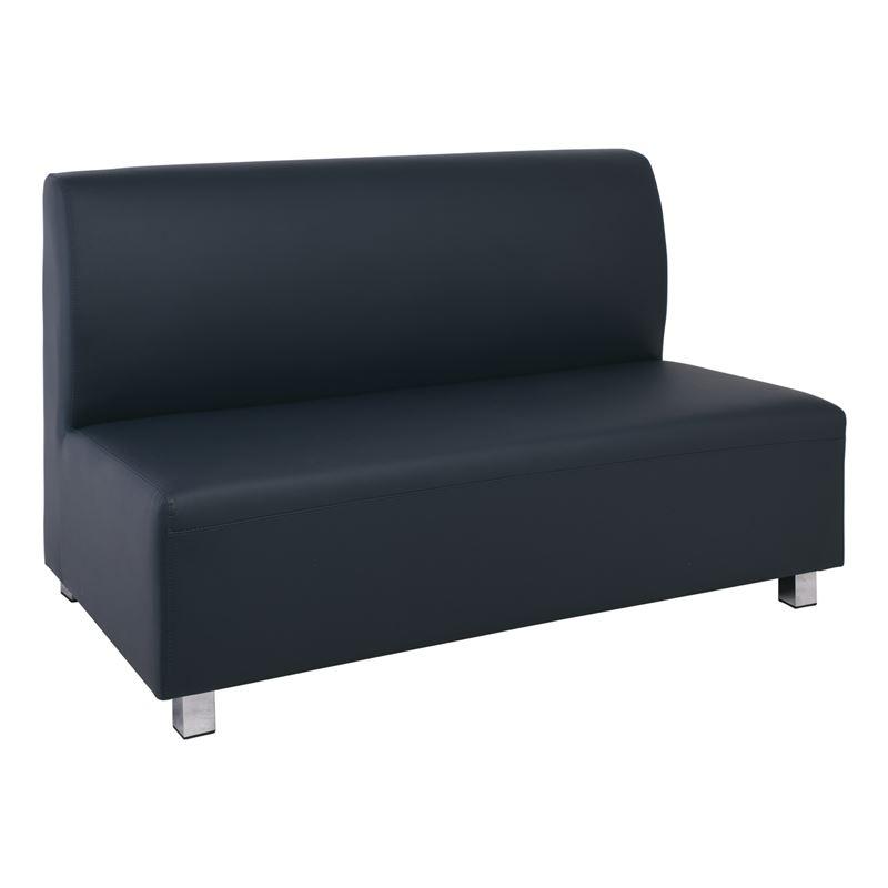 Καναπές Bandy 2θέσιος με επένδυση από τεχνόδερμα Pu σε χρώμα γκρι 130x71x88εκ