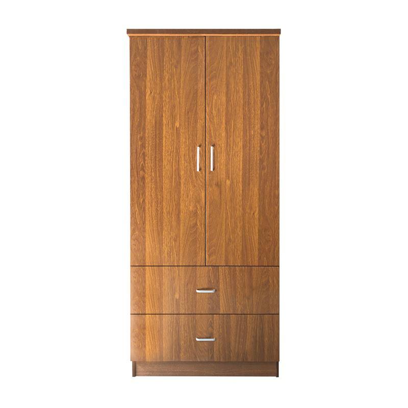 Closet Ντουλάπα 80X50X180Cm Καρυδί Ε8384,3