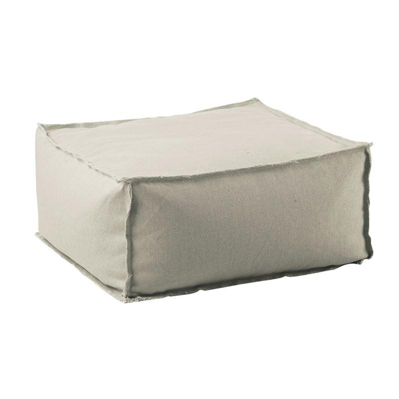 Σκαμπώ πουφ Depo με επένδυση από 100% αποσπώμενο αδιάβροχο ύφασμα σε χρώμα sand 60x60x28εκ