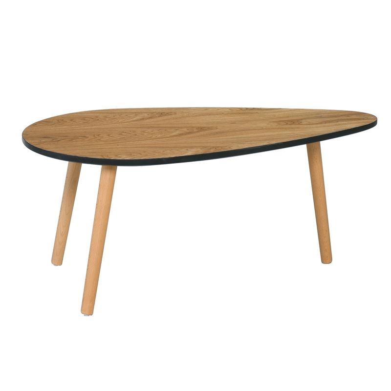 Fine Τραπ.σαλονιού 98X60X41Cm Αποχρ.ξύλου Φυσικό