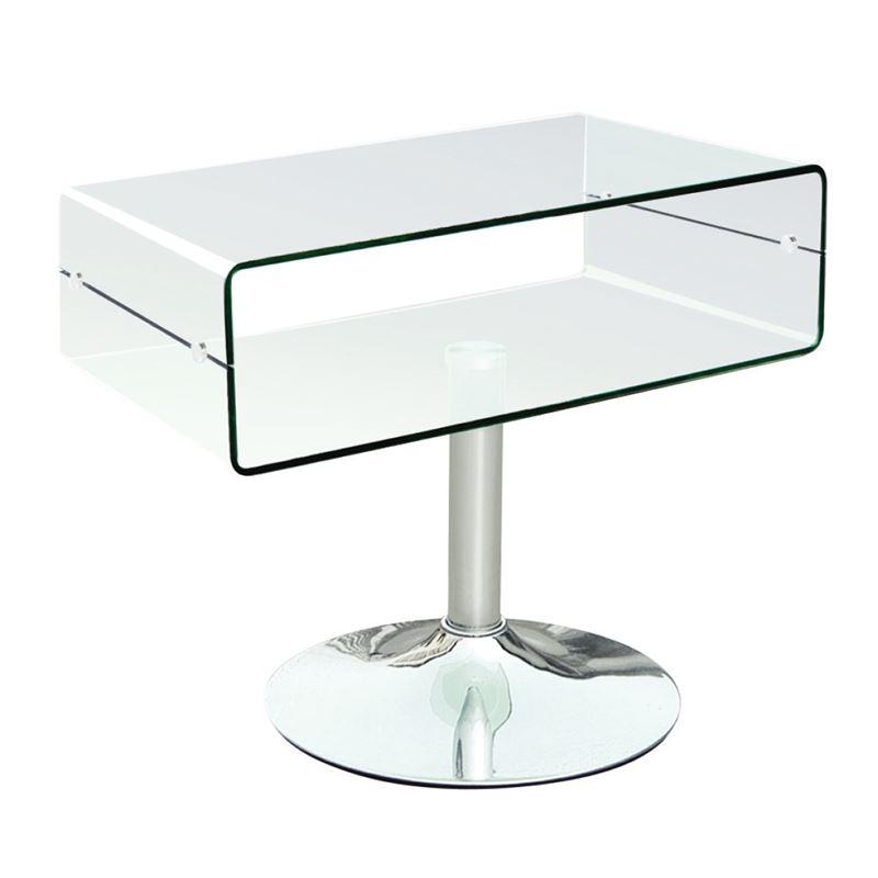 Glasser Clear Έπιπλο Tv 60X38X46 Γυαλί 12Mm/χρώμιο ΕΜ739