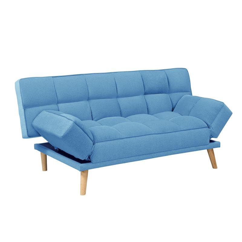 Jay Καναπ.κρεβάτι Ύφ.μπλε 179x90x87*Κρεβάτι 110x179x48cm