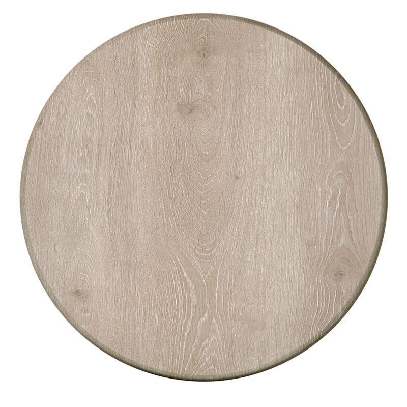 Επιφάνεια τραπεζιού Plus σε χρώμα Grey Oak Φ60εκ.