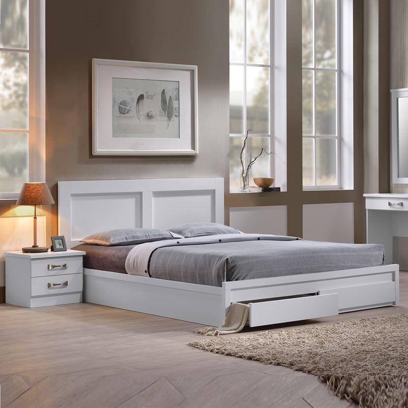 Life Κρεβάτι-Συρτάρια (Για Στρώμα 140X190) Άσπρο