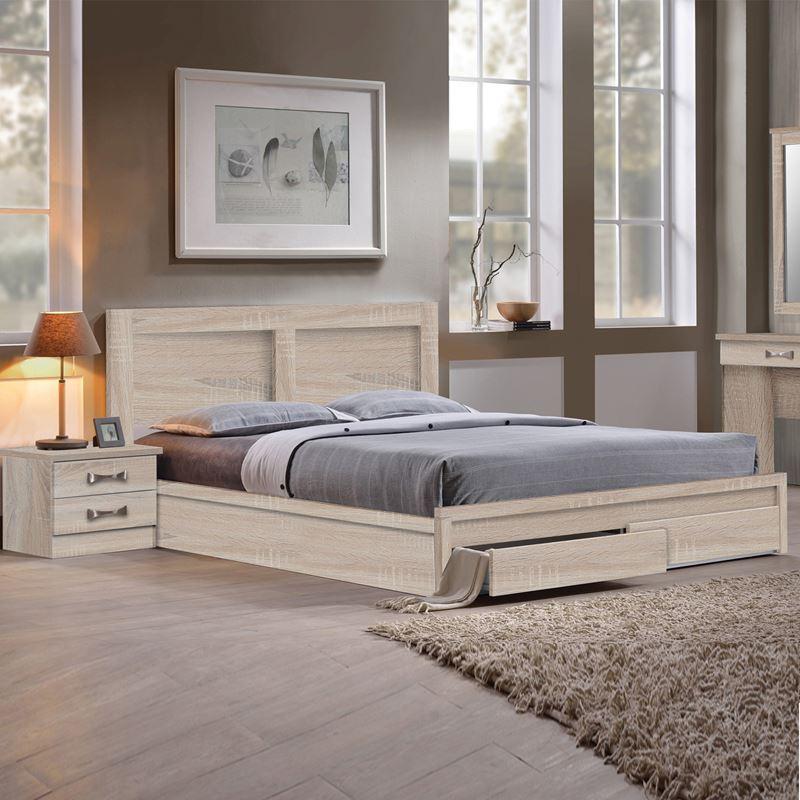 Life Κρεβάτι-Συρτάρια (Για Στρώμα 140X190) Sonoma