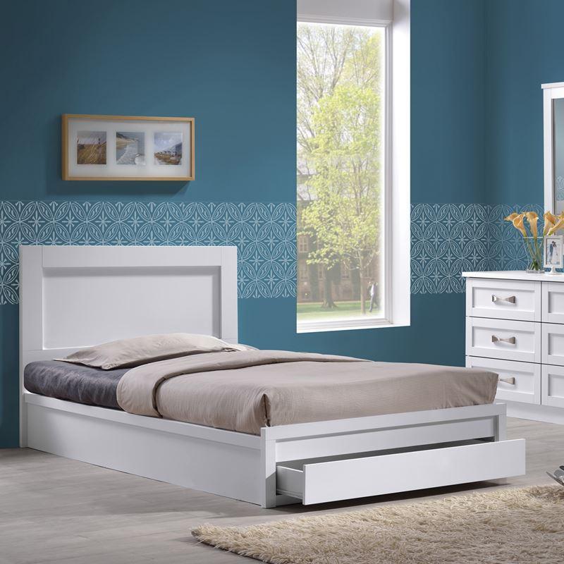 Life Κρεβάτι-Συρτάρι (Για Στρώμα 90X190) Άσπρο