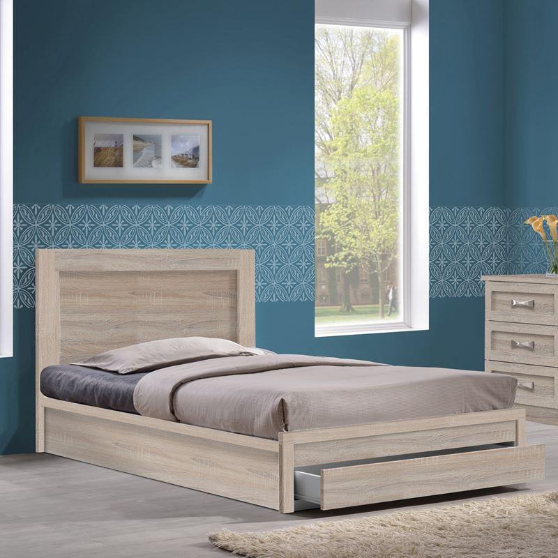 Life Κρεβάτι-Συρτάρι (Για Στρώμα 90X190) Sonoma