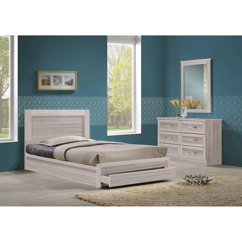 Life Κρεβάτι-Συρτάρι (Για Στρώμα 90X200) White Wash