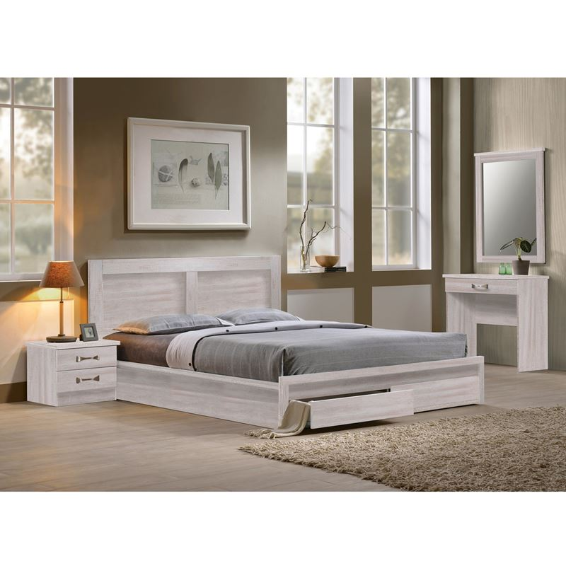 Life Κρεβάτι-Συρτάρια (Για Στρώμα 160X200) White Wash