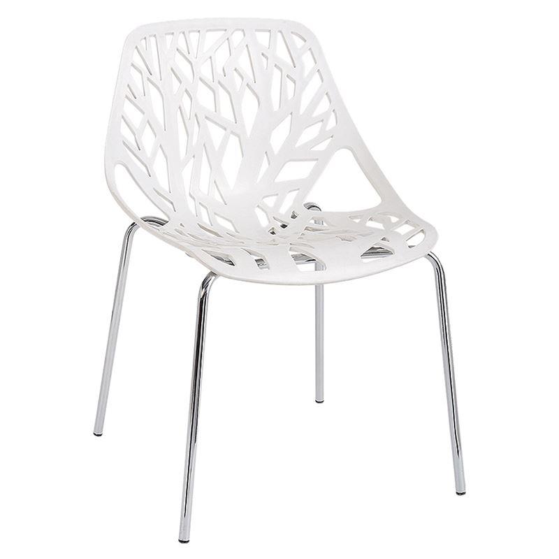 Linea Καρέκλα Pp Άσπρο (Συσκ.6)