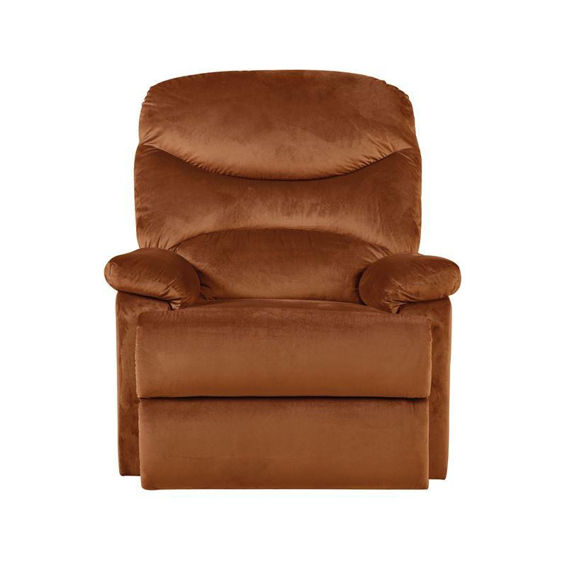 Πολυθρόνα relax Luisa με επένδυση από ύφασμα σε χρώμα κεραμιδί 80x90x99εκ