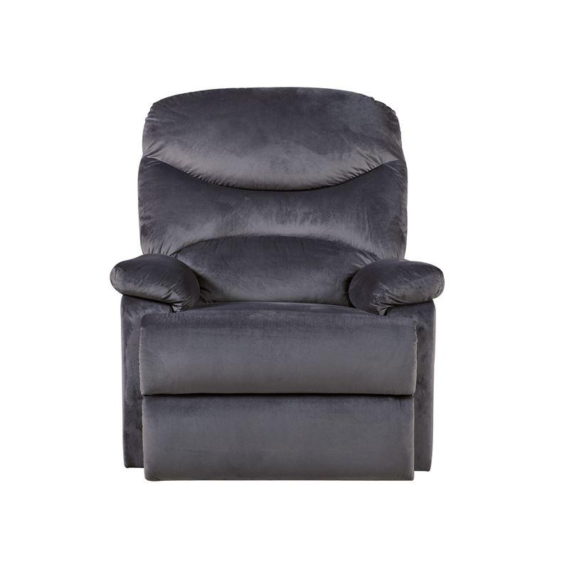 Πολυθρόνα relax Luisa με επένδυση από ύφασμα σε χρώμα σκούρο γκρι 80x90x99εκ