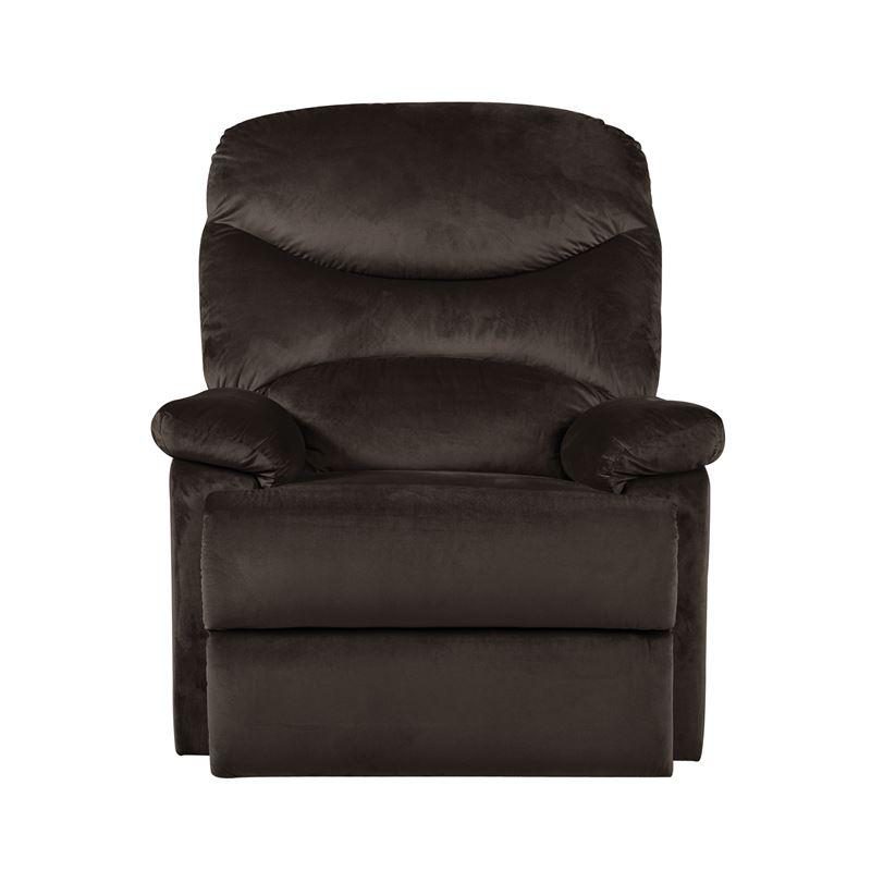 Πολυθρόνα relax Luisa με επένδυση από ύφασμα σε χρώμα σκούρο καφέ 80x90x99εκ