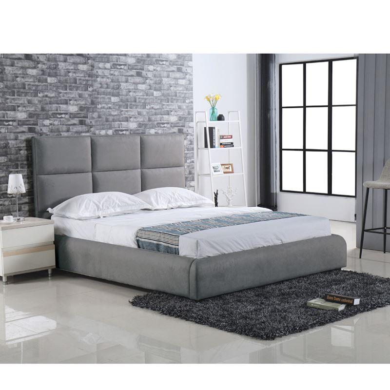 Maxim Κρεβάτι (Για Στρώμα 160X200Cm) Ύφασμα Γκρι