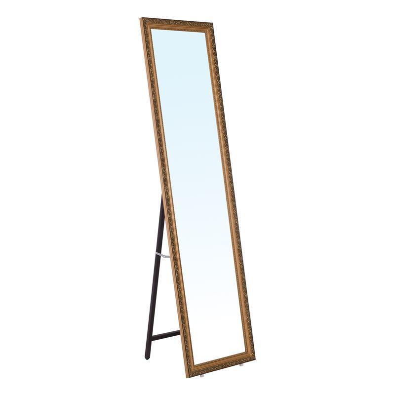 Mirror Καθρέπτης Δαπέδου/τοίχου 40X148 Γύψινος, Gold Brown Ε7186,1