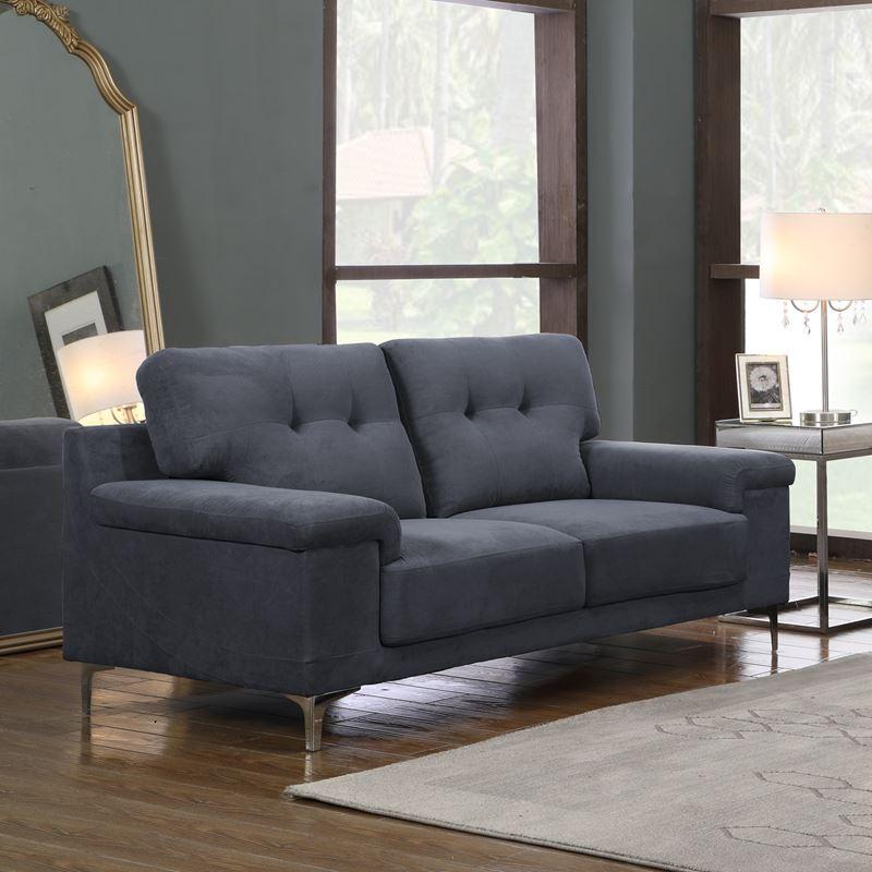 Note Καναπές 2Θέσ.ύφασμα Μπλε-Γκρι