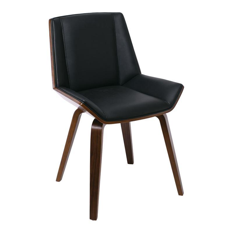 Numan Καρέκλα Καρυδί/pu Μαύρο