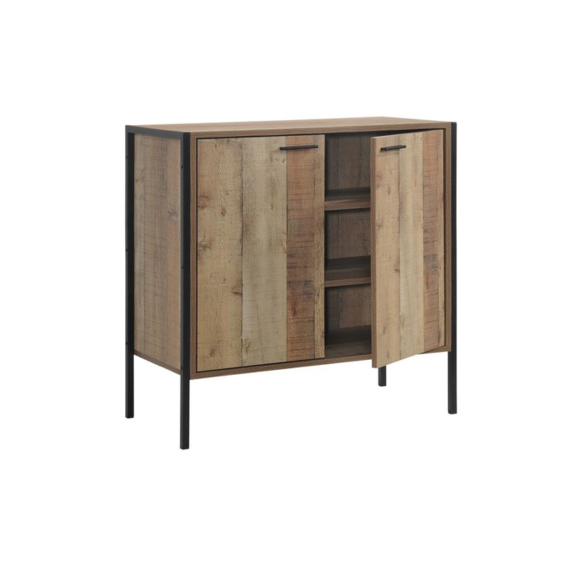 Pallet-W Ντουλάπι-Παπουτσοθήκη 2-Πόρτες 80X40X80 Antique Oak Ε8440,W