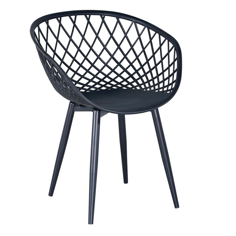 Rex Πολυθρόνα Μεταλλική Μαύρη/pp-Uv Μαύρο
