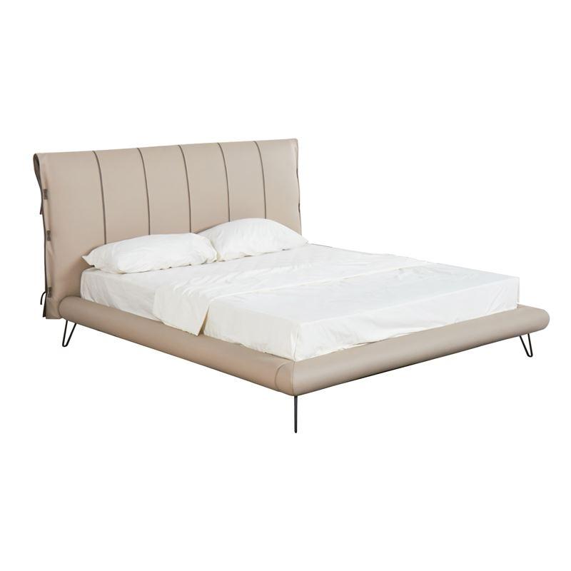 Rialto Κρεβάτι (Για Στρώμα 160X200Cm) Pu Μπεζ