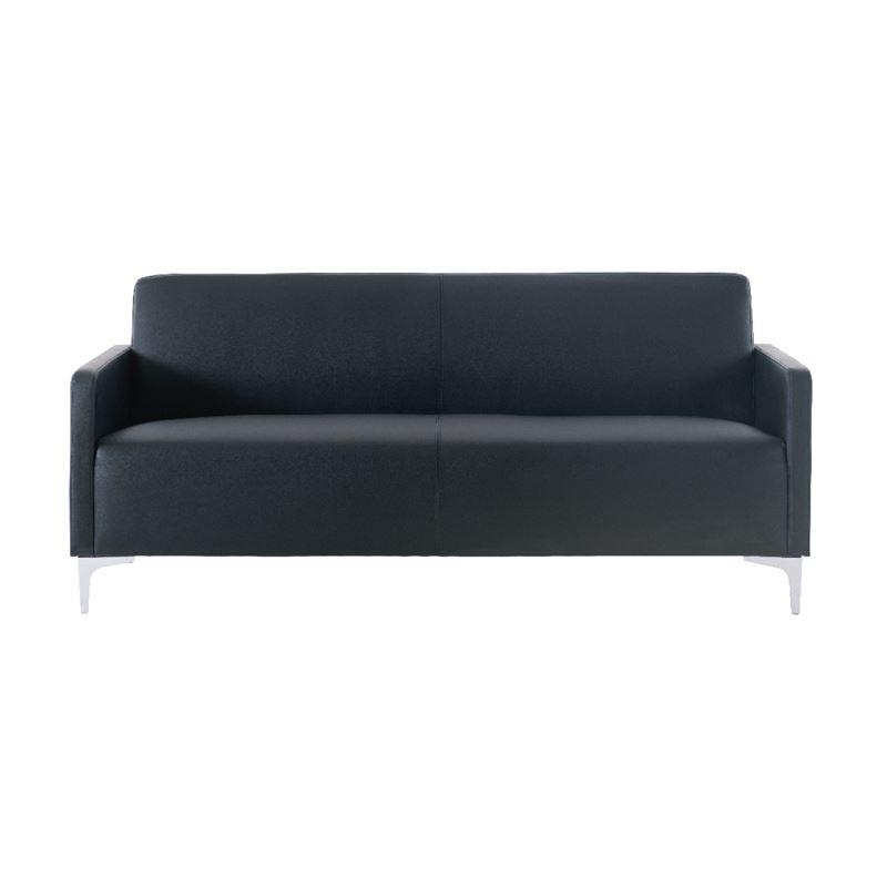 Καναπές Style 2θέσιος με επένδυση από τεχνόδερμα Pu σε χρώμα μαύρο 112x71x72εκ