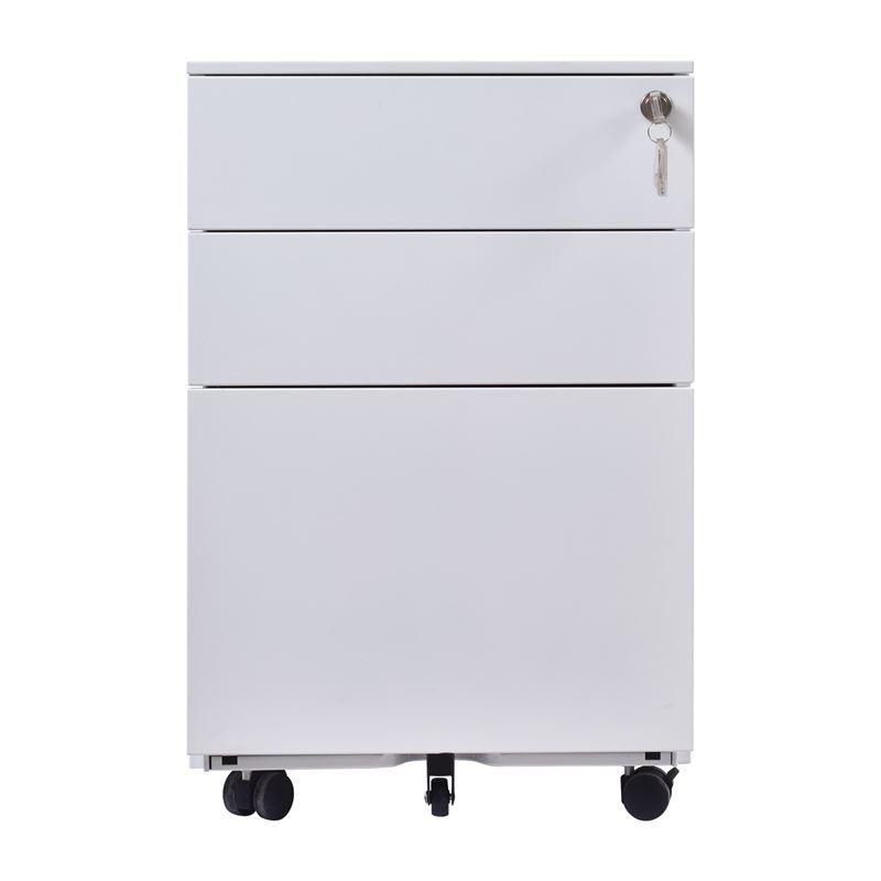 Συρταριέρα Μεταλλική 39X52X60Cm Άσπρη Ε6009