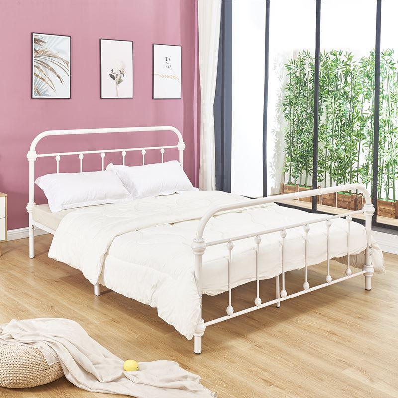 Tuner Κρεβάτι Διπλό (Για Στρώμα 150X200Cm) Μεταλ.άσπρο