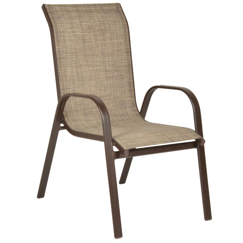 Πολυθρόνα αλουμινίου NANDIA σε χρώμα καφέ και ύφασμα textilene καφέ 01.02.0344