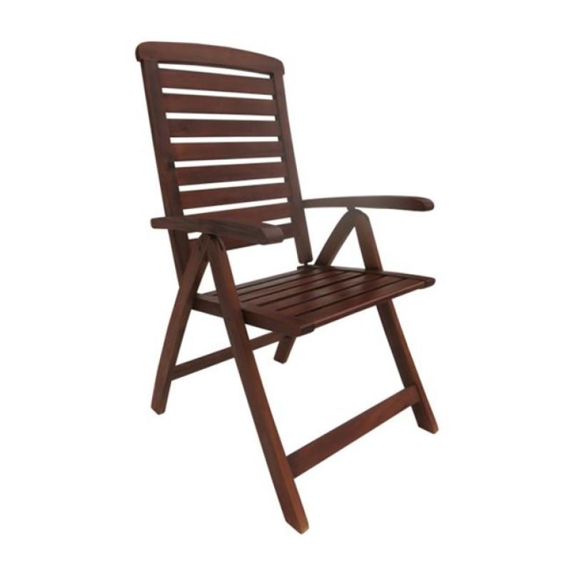 Καρέκλα ξύλινη πτυσσόμενη Garden High απο ξύλο acacia E20202.9