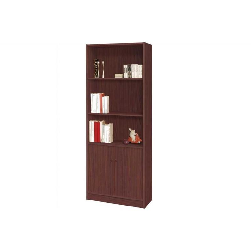 Βιβλιοθήκη γραφείου σε χρώμα καστανιά 70x29x175 HOME-PLUS 01.01.0526