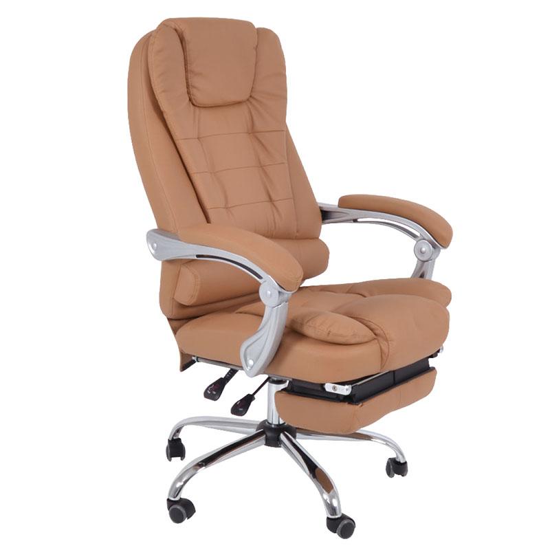 Πολυθρόνα γραφείου διευθυντή Relax με επένδυση από PU σε μπέζ χρώμα EO573.2 / BF9700