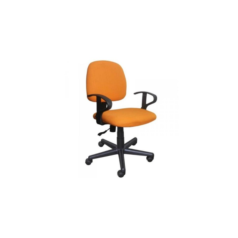 Πολυθρόνα γραφείου εργασίας με ύφασμα σε πορτοκαλί 50x44x84/94 HOME-PLUS 01.01.0567