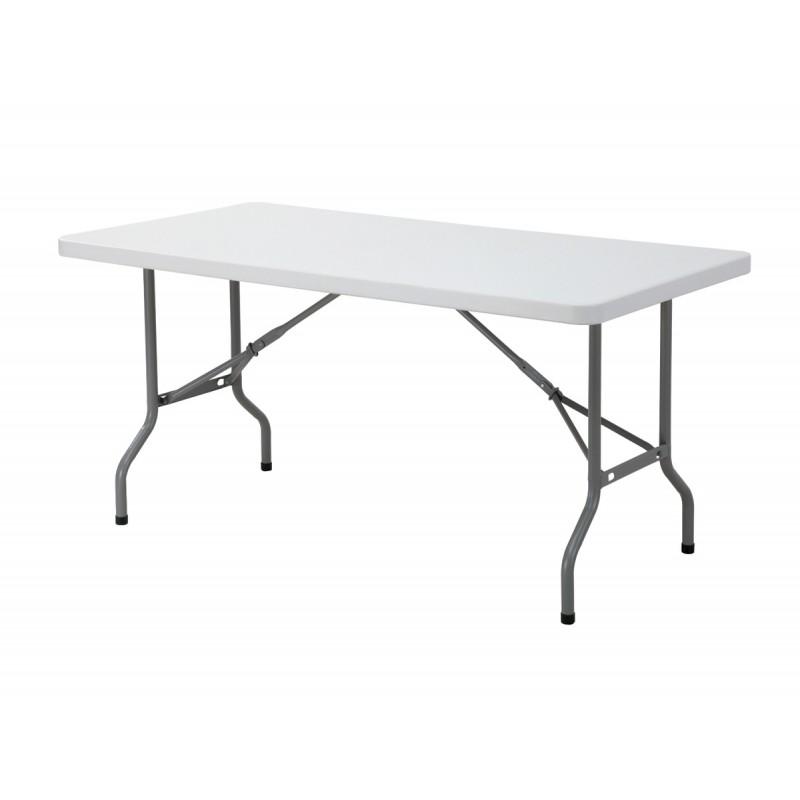Τραπέζι μεταλλικό πτυσσόμενο Blow για Catering με επιφάνεια από HDPE 152x76x74εκ. EO171