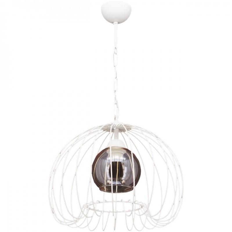 """Φωτιστικό οροφής """"DEMET"""" μεταλλικό σε χρώμα λευκό 07.04.0392"""