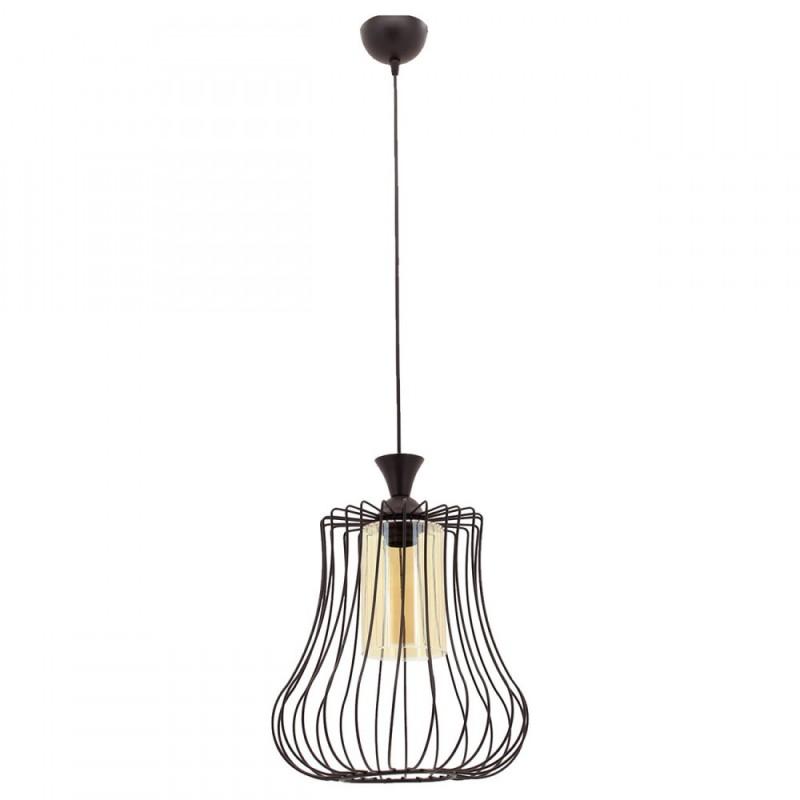 """Φωτιστικό οροφής """"Deren-L"""" μεταλλικό σε χρώμα μαύρο 07.04.0395"""