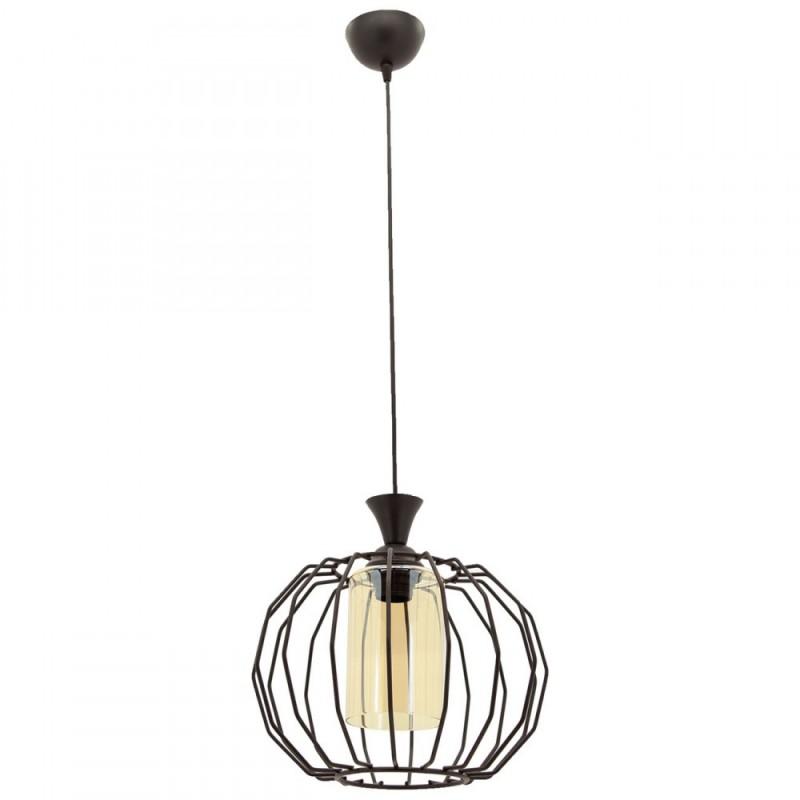 """Φωτιστικό οροφής """"PETEK"""" μεταλλικό σε χρώμα μαύρο 07.04.0389"""