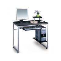 Γραφείο εργασίας με μεταλλικό σκελετό και ξύλινη επιφάνεια σε wenge χρώμα EO407