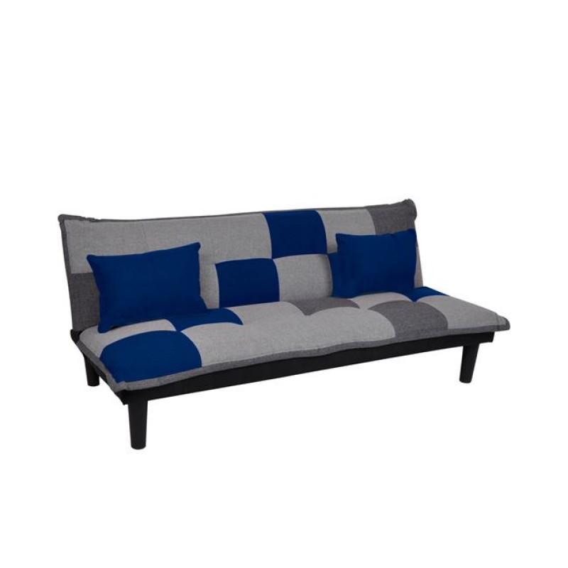 Καναπές-κρεβάτι τριθέσιος FENDER patchwork 168x76x70εκ.