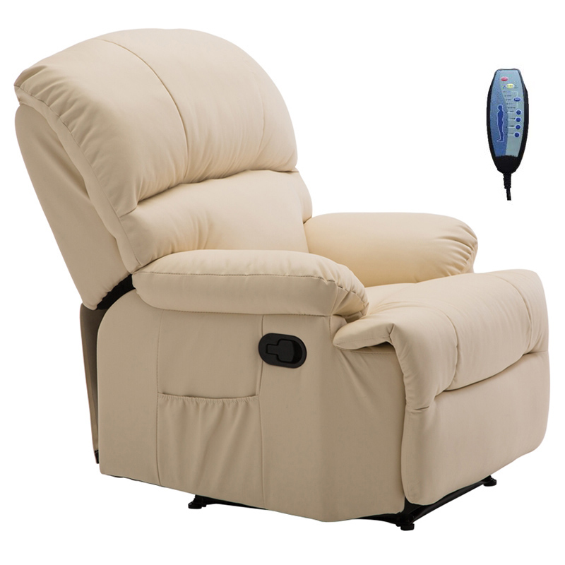 Πολυθρόνα massage SPACE από PU σε χρώμα μπεζ Ε9731,1