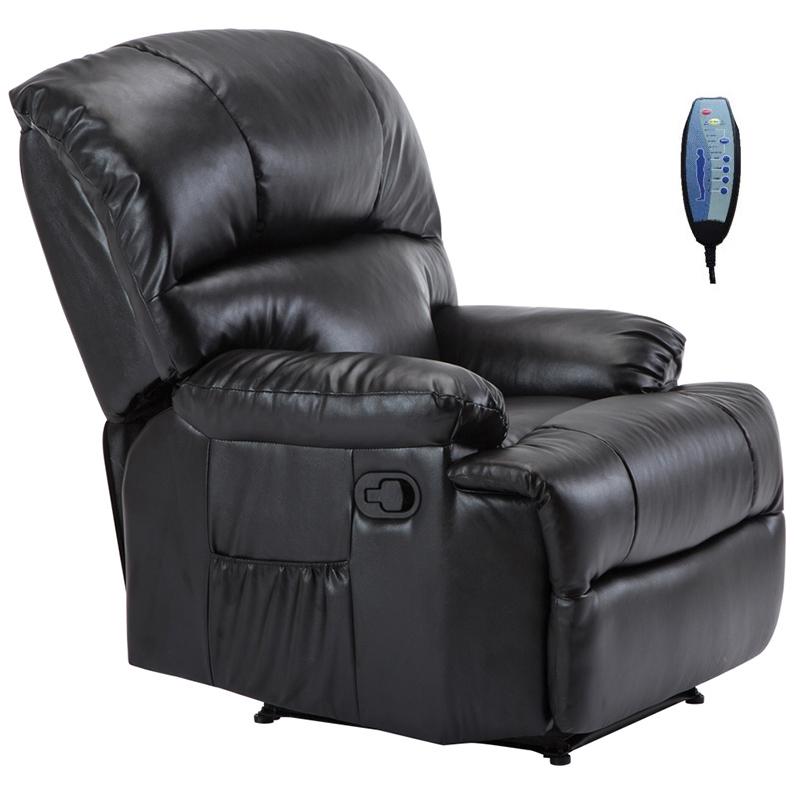Πολυθρόνα massage SPACE από PU σε χρώμα μαύρο Ε9731,2