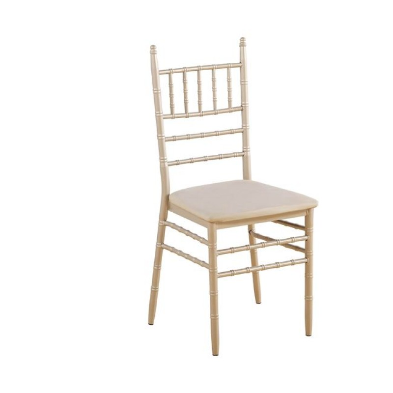 ILONA Καρέκλα Μεταλ.Champagne/Pu Μπεζ ΕΜ516,5 Woodwell