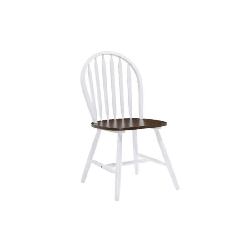 SALLY Καρέκλα Άσπρη/Καρυδί Ε7080,5