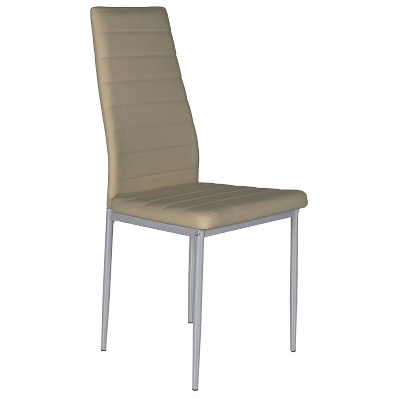 """Καρέκλα """"Marina"""" μεταλλική από pvc σε γκρι χρώμα 43x45x98 01.01.0800"""