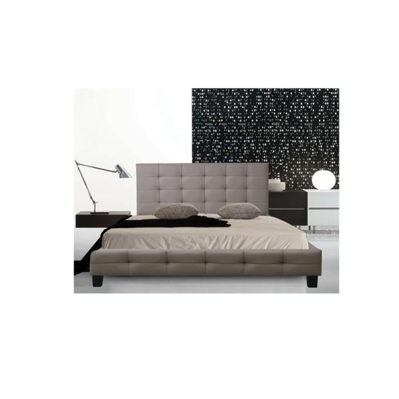 Κρεβάτι διπλό FIDEL με επένδυση απο τεχνόδερμα σε cappuccino χρώμα E8053.3
