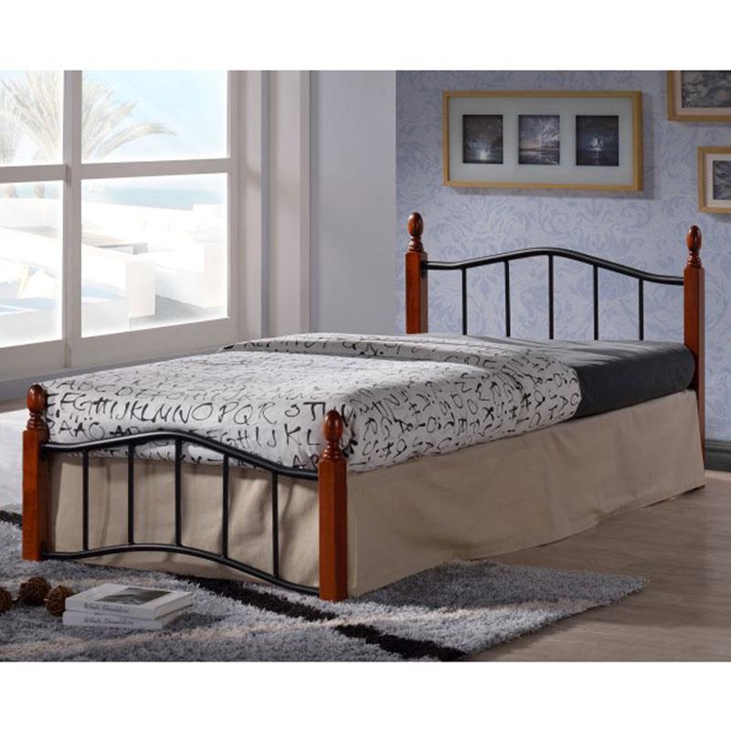"""Κρεβάτι μονό """"MELITA"""" σε ματ μαύρο χρώμα 90x200 HOME-PLUS 02.01.0072"""