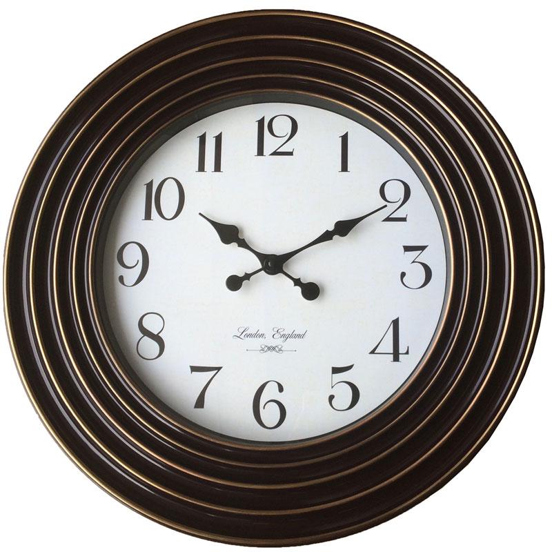 Πλαστικό ρολόι τοίχου Φ58εκ. 01.20.0006