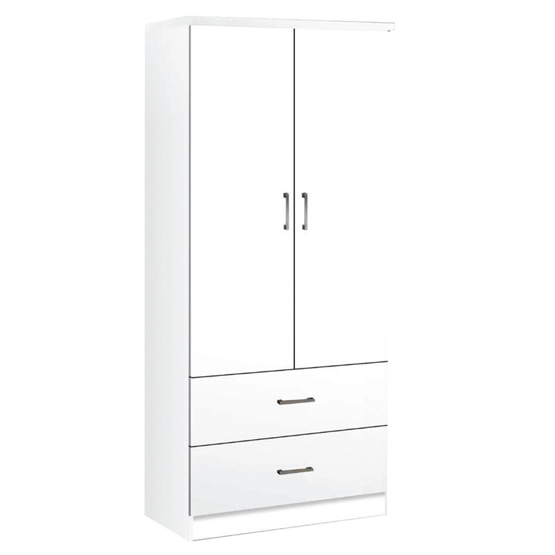 Ντουλάπα δίφυλλη LIFE σε χρώμα λευκό 80x42x180εκ. Ε8380,1