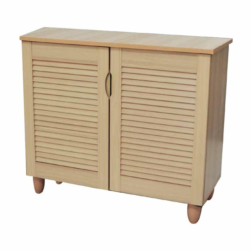 Παπουτσοθήκη ξύλινη με 2 ντουλάπια 77x34x68εκ. σε φυσικό χρώμα Ε8372,1