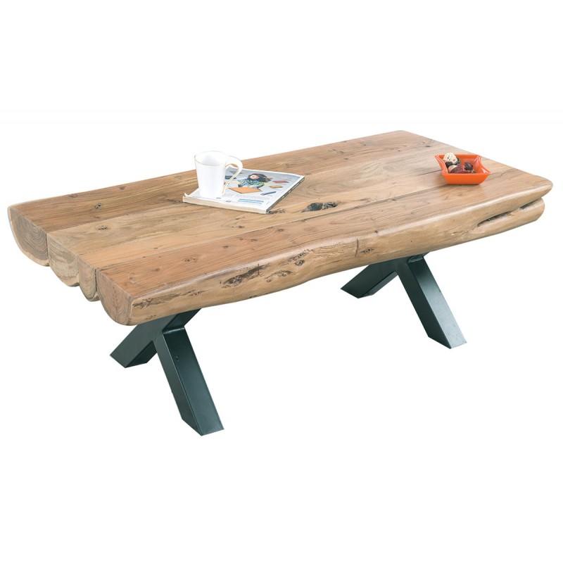 Τραπεζάκι σαλονιού VILLAGE από φυσικό ξύλο ακακίας 118x60x40εκ. ΕΑ7002