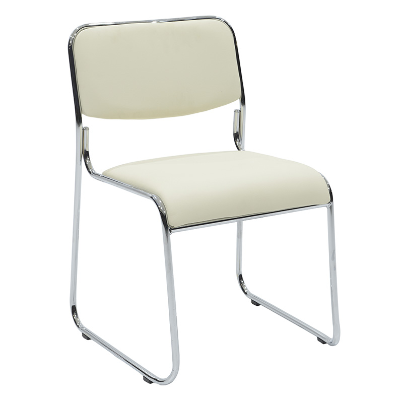 Καρέκλα Επισκέπτη Corina Pakoworld Με Pvc Χρώμα Εκρού